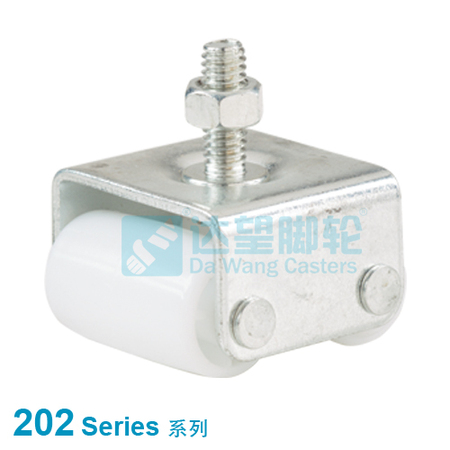 "DW 202 Series 0.87""(22mm) White PP Refrigerator Wheel  Threaded Stem Rigid Caster"